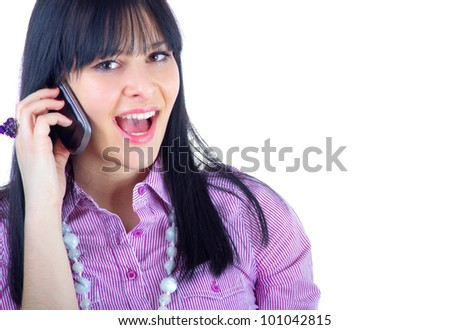 Young women on phone