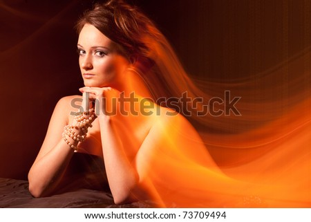 Young Women portrait with Photographic Effects