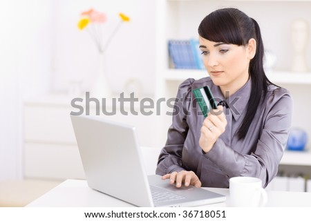 Women Shopping Online Images