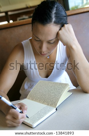 Young Writer - stock photo