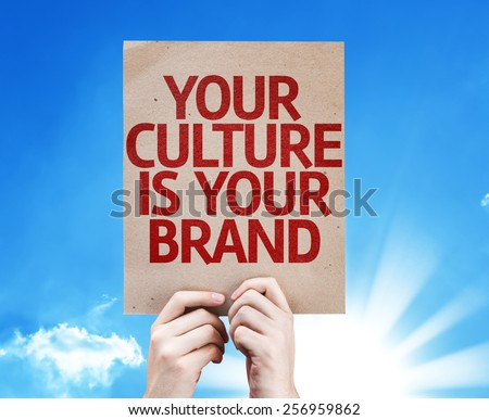 Your Culture is Your Brand card with sky background