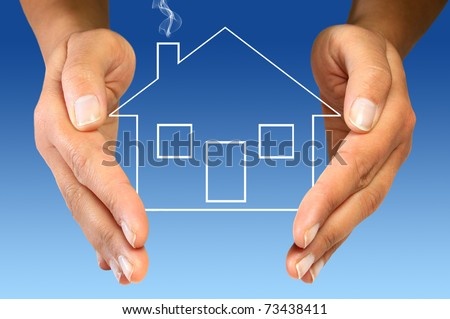 Your house protection - stock photo