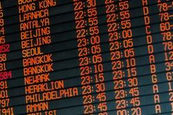Your travel starts here: departures flights information schedule in international airport