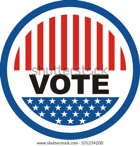 your vote counts usa election badge illustration