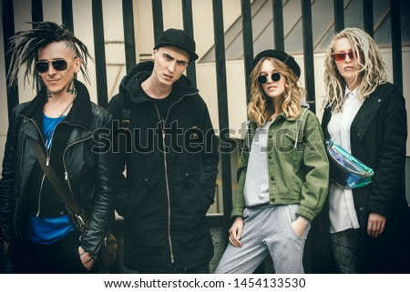 Youth in the backyard. Youth fashion. Problems of transitional age.