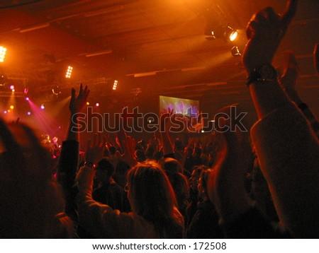 Youth worshiping God
