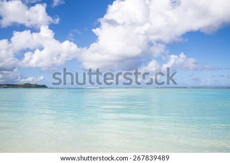 Ypao Beach in Tumon bay  Guam  USA