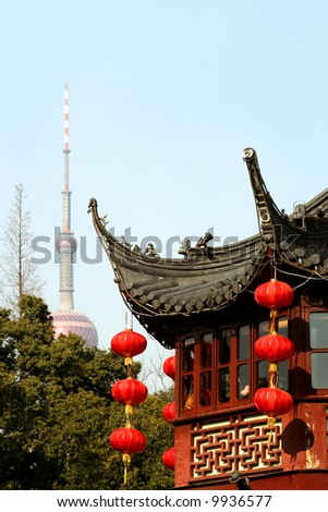 Yu Gardens and Pearl Tower, Shanghai, China
