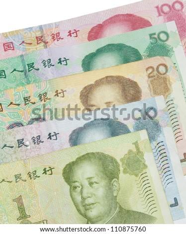 Yuan bills - stock photo