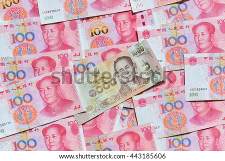 Yuan Or Rmb Chinese Currency And Thai Baht Ez Canvas