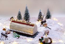 Yule Log Cake for Christmas.
