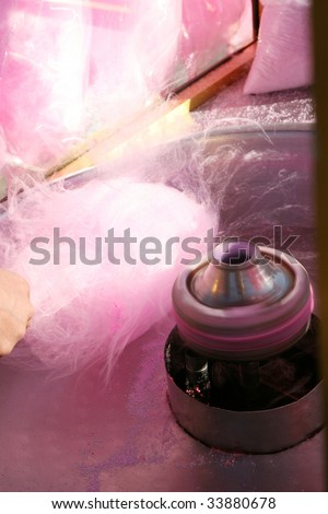 Yummy Cotton Candy - stock photo