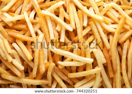 Yummy french fries as background #744320251