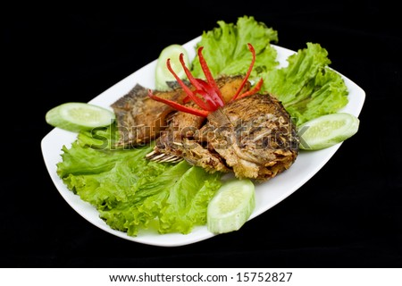 yummy fried fish seafood