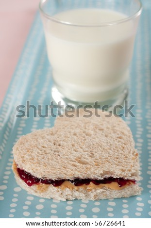 Yummy Peanut Butter and Jelly Sandwich