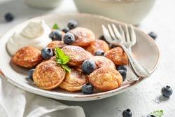 Yummy poffertjes for sweet and tasty breakfast