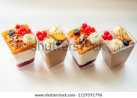 Stock Photo Yummy tasty cream cupcakes - deserts