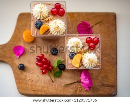 Stock Photo Yummy tasty deserts