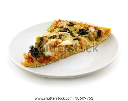 Yummy vegetable pizza