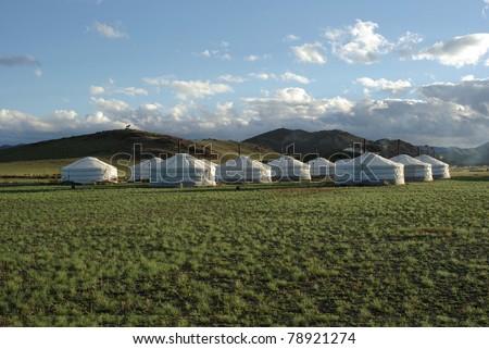 Yurt camp in Mongolia