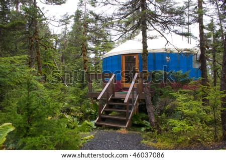 Yurt in the Alaskan wilderness