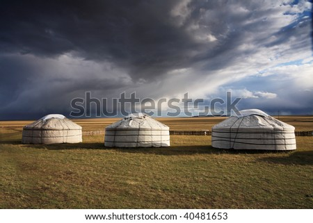 Yurt - Nomad's tent is the national dwelling of Kazakhstan and Kirghizstan peoples