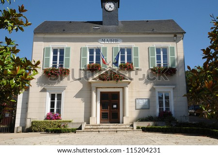 Yvelines, the city hall of Thoiry