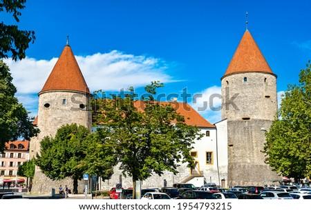 Yverdon-les-Bains Castle in the Canton of Vaud, Switzerland Zdjęcia stock ©
