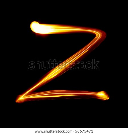 Z - Created by light alphabet - lower case character