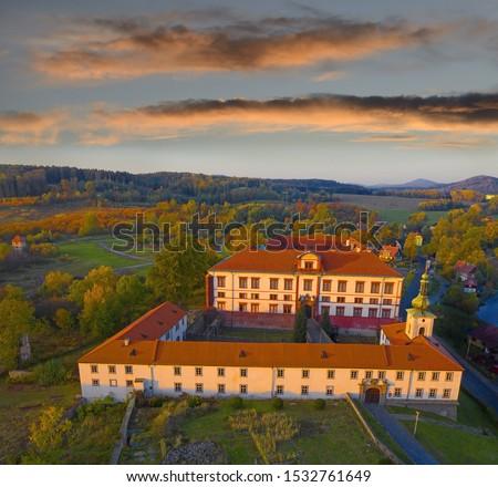 Zákupy Castle (German Schloss Reichstadt) is a 16th century Renaissance castle in Zákupy 8 km east of town Ceská Lipa, Czech republic Zdjęcia stock ©