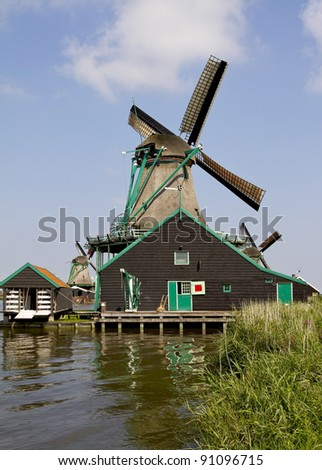 Zaanse Schans Historic Paint Mill 'De Kat'