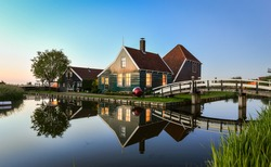 Zaanse schans, Holland - Traditional Dutch village