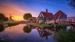 Zaanse schans is a neighbourhood of Zaandam, near Amsterdam in the Netherlands