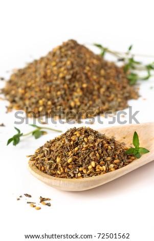 Zaatar. Mix of herbs, sesame seeds and salt.