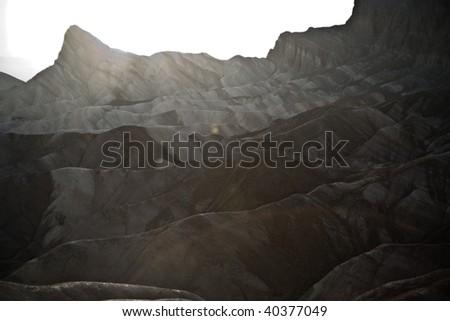 Zabriskie Point in Death Valley, located on Highway 190 near Furnance Creek Ranch
