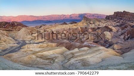 Zabriskie Point in Death Valley National Park in California, United States\n