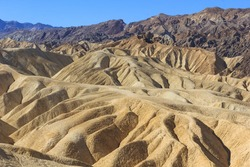 Zabriskie Point is in Death Valley National Park in the United States noted for its erosional landscape