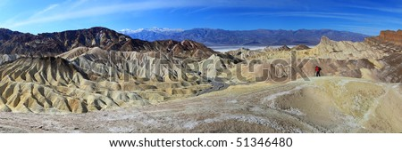 Zabriskie Point panorama, Death Valley, California