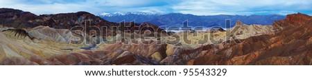 Zabriskie Point panorama, Death Valley, California