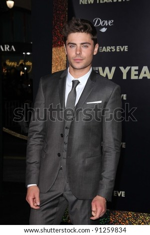 """Zac Efron at the """"New Year's Eve"""" Los Angeles Premiere, Chinese Theater, Hollywood, CA 12-05-11"""