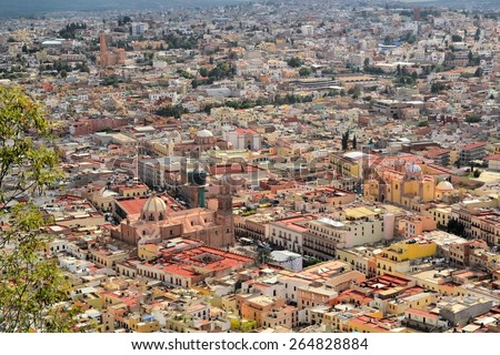 Zacatecas is a former Spanish colonial silver mining town with a lot of colonial architecture in Central Mexico
