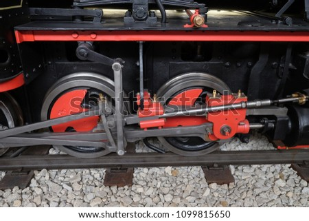 ZAGREB, CROATIA - DECEMBER 17: Gabor steam locomotive by Krauss & Company, Munich 1890 in Nikola Tesla Technical Museum in Zagreb, Croatia, on December 17, 2016. #1099815650