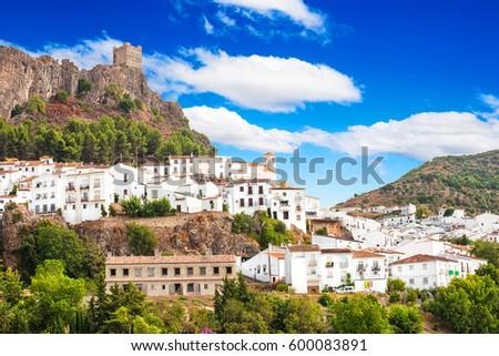 Shutterstock Zahara de la Sierra, beautiful town located in the Sierra de Grazalema, Cadiz (Andalusia), Spain.