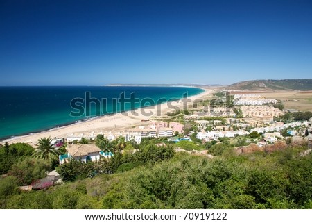 Zahara de los Atunes beach at Cadiz Andalusia in Spain - stock photo