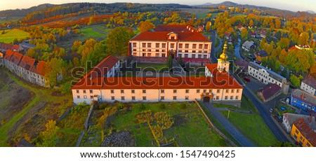 Zakupy Castle (German Schloss Reichstadt) is a 16th century Renaissance castle in Zakupy 8 km east of town Ceská Lipa, Czech republic Zdjęcia stock ©