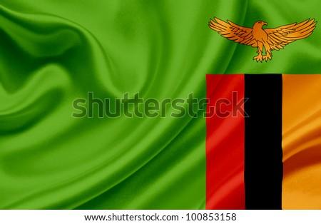 Zambia waving flag