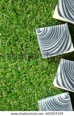 zebra charcoal handmade natural cold process soaps.