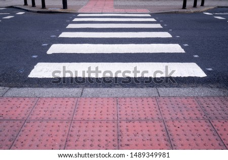 zebra crossing for pedestrians crossing the road  #1489349981