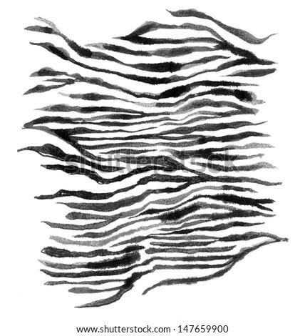 Stock Photo Zebra Stripes (Hand Painted)