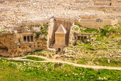 Zechariah Tomb in Kidron Valley, Jerusalem, Israel